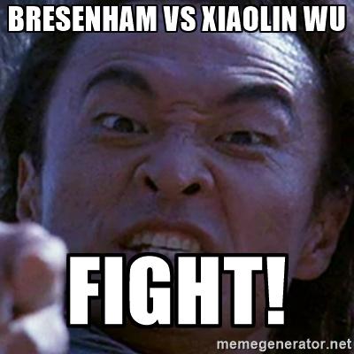 Mortal Kombat - Bresenham vs Xiaolin Wu